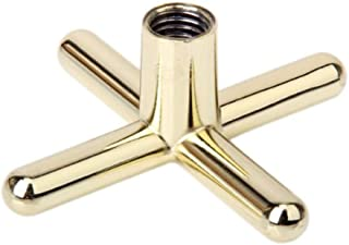 LBSX Pool Cue Golden Snooker Pool Stick Table Brass Coated Cue Rest Cross Bridge Head