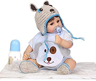 iCradle 17''42cm Reborn Baby Dolls Soft Silicone Vinyl Handmade Real Looking Lifelike Realistic Newborn Fashion Dolls Similar to Real Baby Xmas Gift Child Parterner for Age 3+ (2)