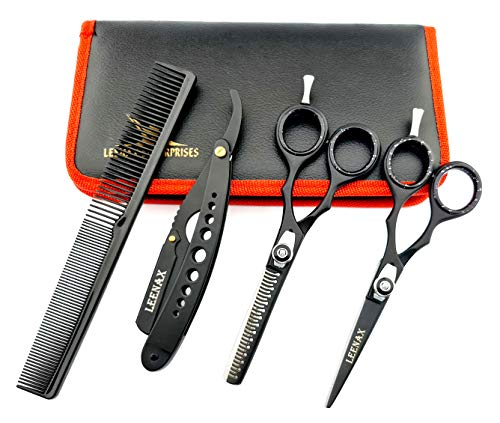 Haarschneidescheren-Set aus Edelstahl, Effilierschere, Haarscheren-Set für Männer, Frauen und Haustiere