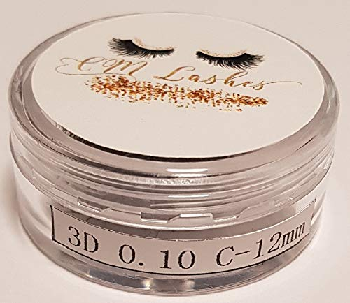 Wimpernverlängerung CM Lashes Lose Volumen Wimpern 3D,C,0.10,12mm,Volume Eyelash