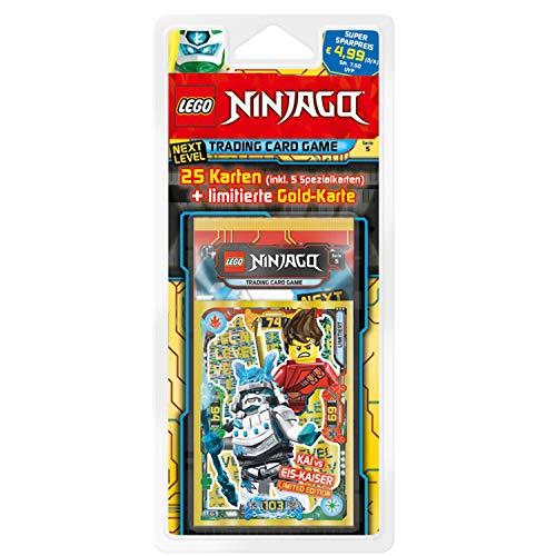 Lego 180996 Ninjago Serie V Next Level, Blisterpack, 5 Booster und Limitierte Goldkarte