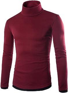 489e1439eeb7 DianShao Suéter Hombre Jersey Caliente De Cuello Alto Delgado Manga Larga  Casual