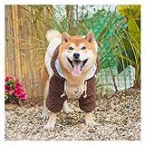 RKL Linda Ropa for Perros de Shiba Inu Fondo KE Pelo Labrador Mediana Grande del Perro casero Espesar Plus Fleece Otoño Invierno Traje de Perro (Color : Two Legged clothing-3XL)