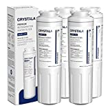 Crystala Filters UKF8001 Water Filter, Compatible with Refrigerator Water Filter Whirlpool 4396395, Filter 4, Maytag UKF8001, EDR4RXD1, UKF8001AXX, UKF8001P, Puriclean II, 469006, (4 Pack)