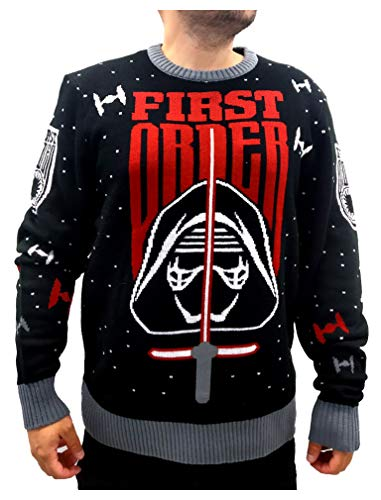 Star Wars Sweater First Order Kylo Ren Ugly Christmas Sweater Holiday Sweater Large Multicolor