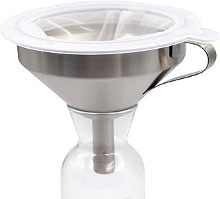 PROBEEALLYU Embudo con Filtro de Acero Inoxidable 100 Filtro de Malla Miel/Mermelada/Colador de Vino 5.2 Pulgadas, Bolsa d...