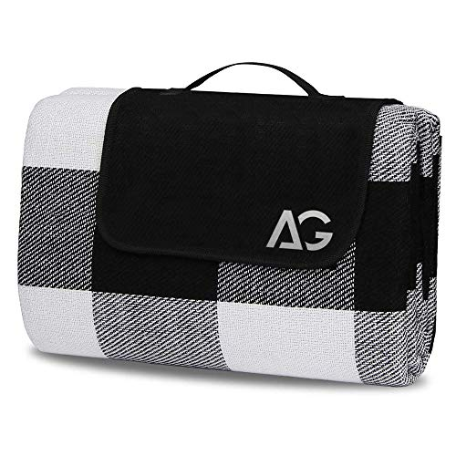 AG Picnic Outdoor Blanket Park Blankets Beach Mat Waterproof Blanket for Camping on Grass Oversized Seats 60'' X 80'' Adults Water Resistant Picnic Mat Camping Blanket