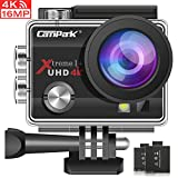 Action Cam Campark 4K Wifi Sports Action Kamera 16MP Ultra Full HD Helmkamera Wasserdicht mit Dual...