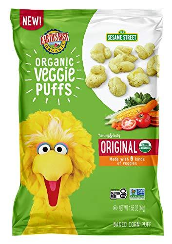 Earth's Best Organic Sesame Street Toddler Snacks, Veggie, 4 Count