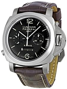 Panerai Men's M00311 Luminor 1950 8 Days Chrono Monopulsante GMT Titani Chronograph Watch Shop and Online and review image