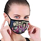 PX SHOPPING STREET Breathable Soft Face Masks for Kids Teens, Bobs Burgers Halloween Family Fanart Poster Mouth Mask for Sun Protection, Popular Warm Masks for Motorcycle Daily Use