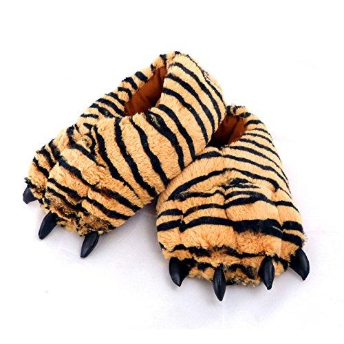 Sunny Toys Coole Tigerhausschuhe Hausschuhe Tiger - Größe S bis XXL (X-Large)