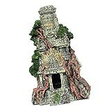 POPETPOP Resina Decoración del Acuario de Los Restos Acuario Ruinas Griegas Ornamento Gran Pecera Decoración Antigua Civilización Decoración del Acuario