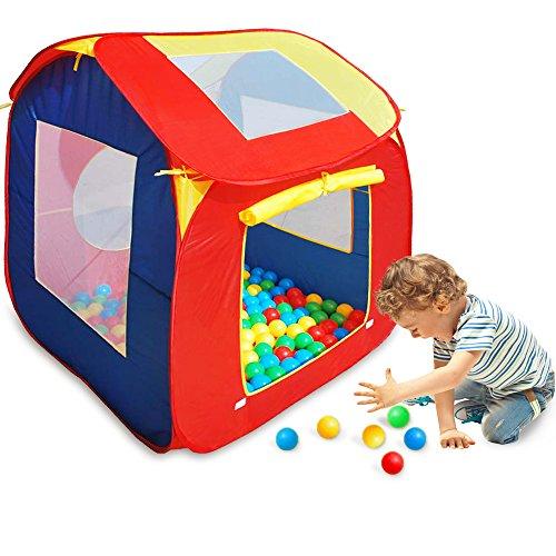 Piscine à balles - tente de jeu colorée avec balles pour enfants, bébés - 200 balles diff. couleurs incluses - apprentissage - loisir