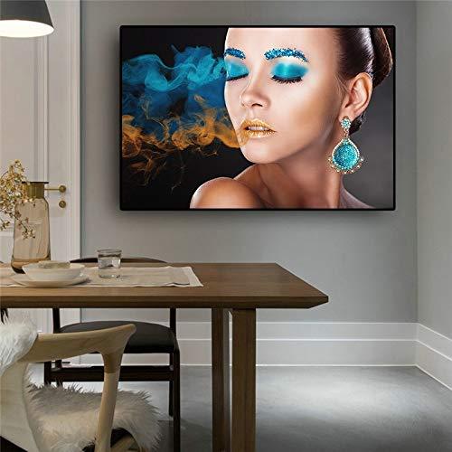 KWzEQ Moderne Stil Mädchen Frau nordische skandinavische skandinavische Künstler Hausdekoration,Rahmenlose Malerei,30x45cm