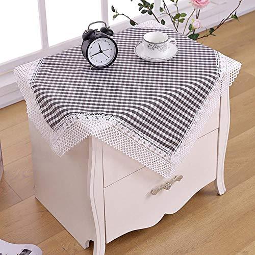 DSJ Plaid salontafel doek kant tafelkleed ronde tafel bruiloft tafelkleed, zie grafiek, 85x85cm