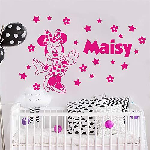 Mickey Mouse Autocollant mural en vinyle Motif Minnie Mouse