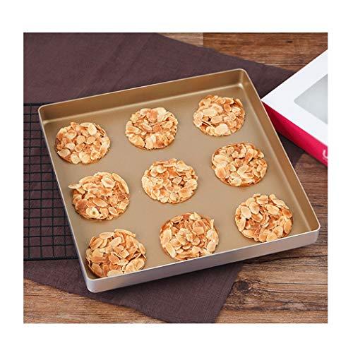 Wuzhengzhijia 11-inch Gold Square Baking Tray Non-Stick Coating Cake Roll Baking Sheet Aluminum Alloy