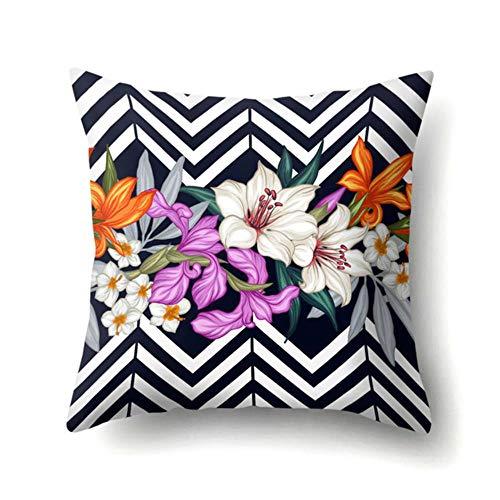 Gbc-type 1 Tropische vogel ananas polyester kussenhoes voor auto decoratie van het huis bank decoratieve kussensloop