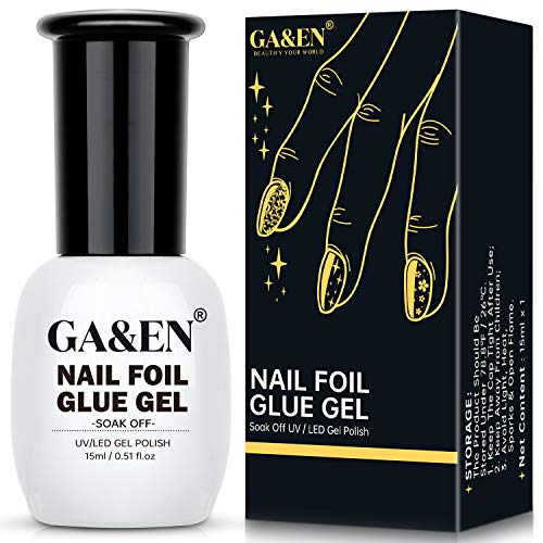 Nail Foil Glue Gel for Foil Art Stickers Strong Adhesion Nail Complete Transfer Metallic Floral...