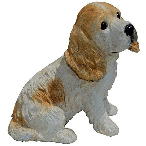 Michael Carr Designs 80094 Buffy-Cocker Spaniel Puppy Statue, Medium, Blanc/Marron Clair