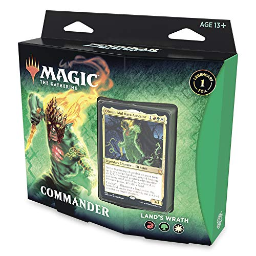 Magic: The Gathering Zendikar Rising Commander Deck – Land's Wrath | 100 Card Ready-to-Play Deck | 1 Foil Commander | Red-Green-White