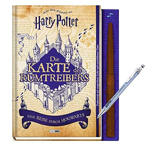 Panini Verlag Die Karte des Rumtreibers - Eine Reise durch Hogwarts (Gebundenes Buch) + 1 Harry Kugelschreiber
