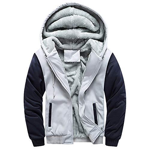 Review YANYUN Men's Winter Coat For Hoodies Fashion Fleece Sale Parka Pullover Top Warm Lightweight ...