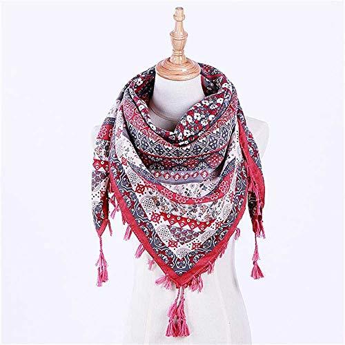 VIGCK Frauen Winter Dreieck Schal Druck Warme Kaschmirschals Weibliche Schals Lady Bandana Wraps Decke Kopf Hijab