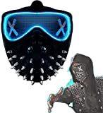 LED Watch Dogs Wrench Mask 25 Expression Change Wrench Marcus Legion Cosplay Halloween Halloween Gifts for Kids Prop Resin (Light strips)