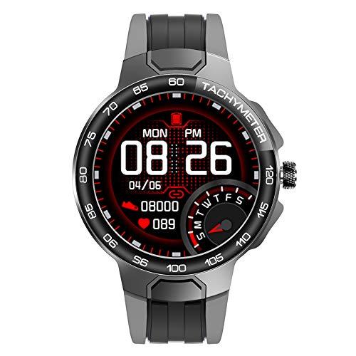 Reloj deportivo inteligente Reloj de pulsera multifunción para exteriores Reloj digital resistente al agua con monitor de frecuencia cardíaca y sueño Calorías Relojes GPS para hombres y mujeres,Gris
