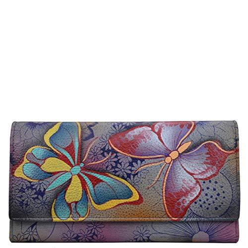 Anna by Anuschka Geldbörse, dreifach gefaltet, Echtleder, Butterfly Paradise