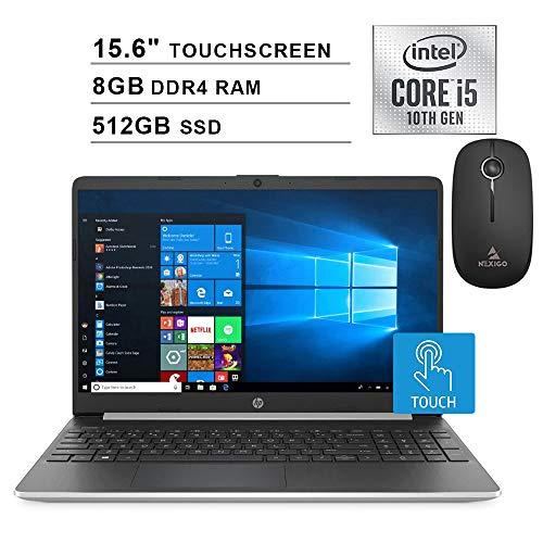 2020 HP Pavilion 15.6 Inch Touchscreen Laptop| 10th Gen Intel Core i5-1035G1 (Beats i7-7500U)| 8GB RAM| 512GB PCIe SSD| WiFi| Bluetooth| Webcam| Windows 10 + NexiGo Wireless Mouse Bundle