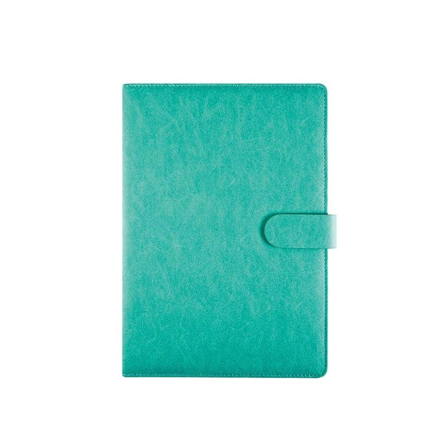 ノートブック、メモ帳、ビジネスノート、学生の原稿、オフィスミーティングノート、200ページのA4マグネットバックルブック、コーヒー/ブラック/ブラウン/グレー/ブルー、高品質 (Color : Blue)