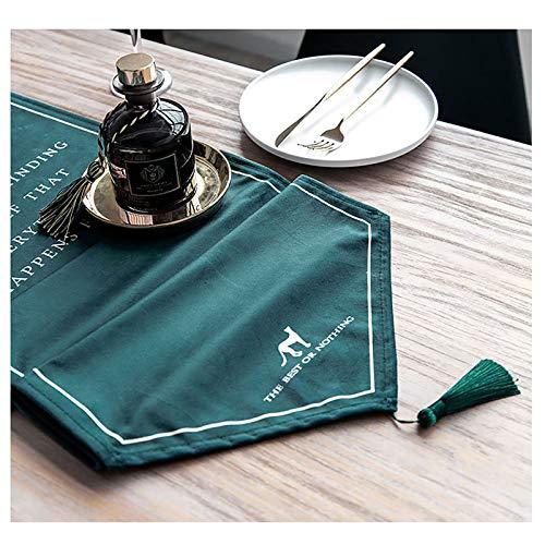 YINGJI Camino de mesa moderno y ligero mantel adecuado para mesa de comedor, mesa de café, zapatero gabinete de TV, 30 cm de ancho (tamaño: 220 cm)