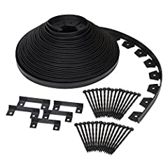 EASYFLEX NO-DIG LANDSCAPE EDGING: Create a beautifully landscaped yard without having to hire a professional - lawn edging that is easy to install with no digging required KIT INCLUDES: 100-foot coil of black landscape edging measuring 1.5-inches tal...