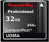 Komputerbay KB_32GBCF_266X - Tarjeta de memoria de alta velocidad, 32GB de capacidad, Compact Flash CF 266X, Ultra alta velocidad de escritura de 36MB/s, y 37MB/s de lectura UDMA