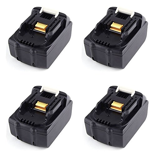 4X Masione 18V 3000mAh Li-ion batteria Pack Ricaricabile Bar Strumento batteria di ricambio per Makita BL1830BCL180Z, bcl180zw, bcl182z, BCS550, BDF456Z, BGA452(4pezzi batterie)