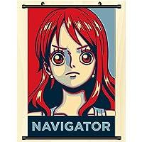 スクロール壁画ポスターワンピースルフィアニメ漫画壁掛けポスターオタクアニメーション周辺ファンギフト-40x60cm,16inchx24inch