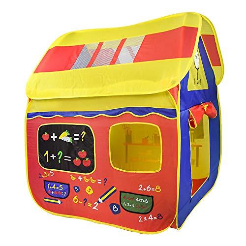 Tienda de juegos para niños Pop Up portátil plegable tienda castillo casa de juegos niños niñas niños al aire libre/interior juegos interiores y exteriores
