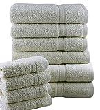 Casabella - Juego de toallas de baño (10 unidades), algodón, crema, 10 unidades
