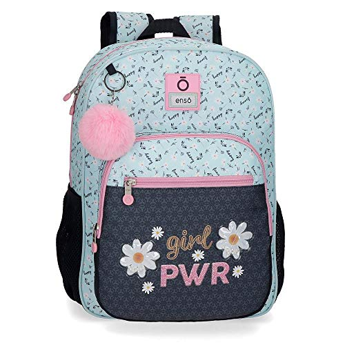 Mochila Escolar Enso Girl Power  30x38x12 cm  Azul