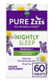 ZzzQuil Pure Zzzs Nightly Sleep Melatonin Tablets, 60 ct, with Chamomile, Lavender, & Valerian Root, 1 mg per tablet (Packaging May Vary)