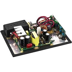 Monacor SAM-300D Aktives Subwoofer-Modul Klasse-D für das Digitale Zeitalter, Einbau-Verstärker in Schwarz mit Lautsprecherschutz