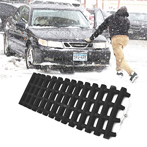 JOJOMARK Tire Traction Mat, Portable Emergency Devices for Snow, Ice, Mud, and Sand Used to Car, Truck, Van or Fleet Vehicle (1pcs23in)
