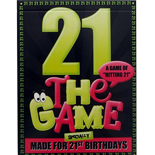The 21st Birthday Game - novelty gift or present idea for anyone turning 21. Wrapping paper included.
