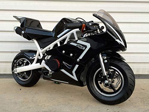 Mini Pocket Bike 50RR Gas Powered 2-Stroke 50cc (White/Black)