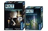 EXIT Kosmos Spiele abandonado Cabaña + Juego Kosmos – Die Catakomben des Grauens – La aventura de 2 piezas en 1 caja, nivel avanzado, juego Escape Room