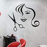 Peluquería Decoración Adhesivo de pared Accesorios para el cabello Salón de belleza Manicura Manicurista Regalo femenino