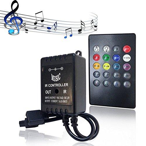 RGB Controller EPBOWPT LED Musik Controller 20Keys IR Remote Fernbedienung Kontroller Steuerung für DC12V 3528/5050 SMD LED Streifen RGB LED Lichtband Farbwechsel Led Lichtleiste